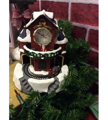 "Christmas Musical Clock with Train"" WAITING NEW STOCK"""