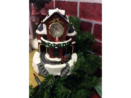 Christmas Musical Clock with Train