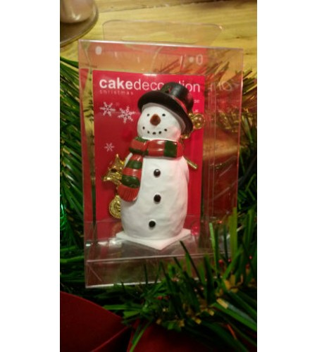 Snowman resin cake decoration with Merry Christmas sign Special offer now £4.00 each