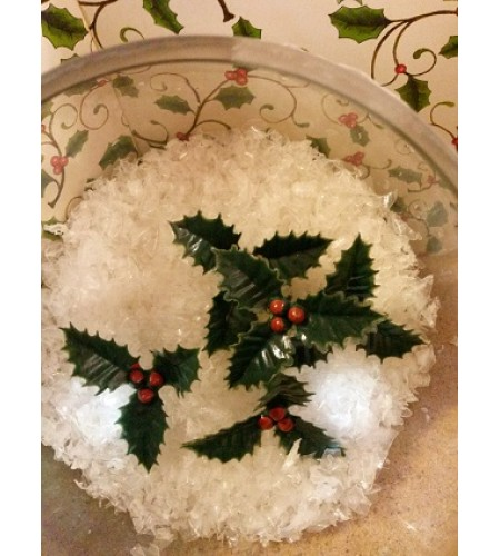 Creative cake decorations  Small Holly Cluster
