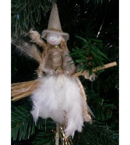 Handcrafted White Magical Fairy Witch