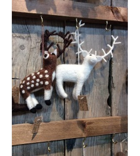"Hand Crafted to Life  ""Felt so Good"" Animal Characters ""Stags"" set of 2"