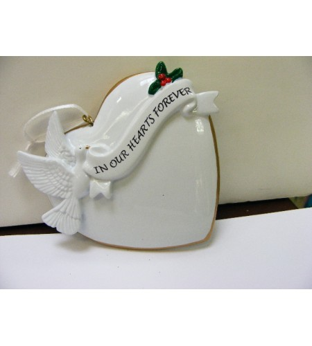 'In Our Hearts Forever' Tree Decoration