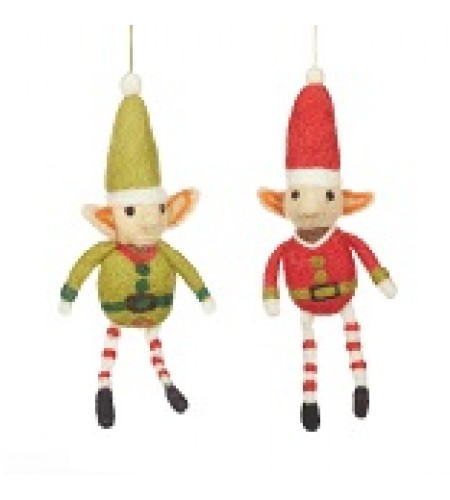 Hand  made ethical Felt Elf