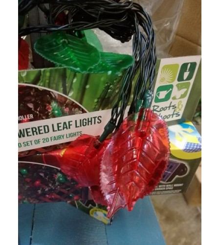 Soler Powered LED leaf Lights