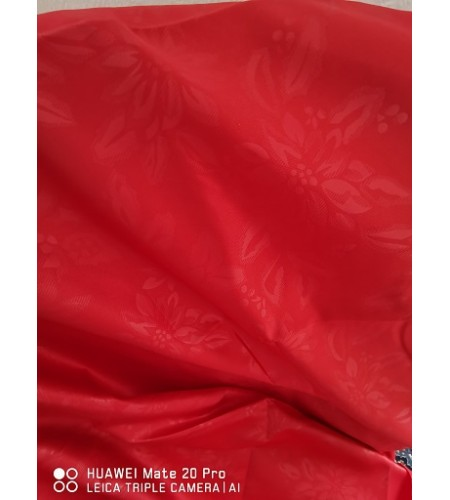 Poinsettia Embossed  Red TableCloth 132x178cm   (52x72inch)